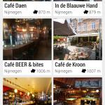 Beginscherm - overzicht cafe's